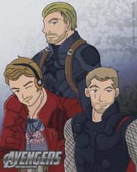 Avengers - Three Dudes Named Chris by LegendaryStar-Lady