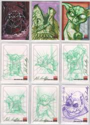 Star Wars Galaxy 5 sketchcards by britbrakdown