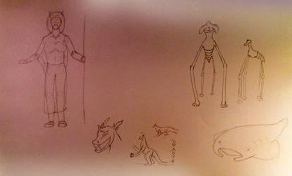 Random Sketches 4 by Vexorum