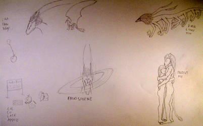 Random Sketches 6 by Vexorum
