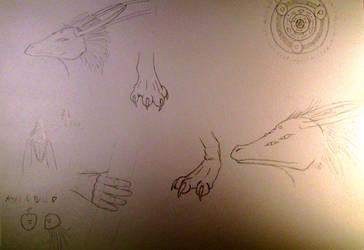 Random Sketches 7 by Vexorum