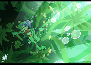 Youtube Speedpaint: Coral and seaweed by DarkNeon-64