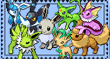 Shiny Eeveelutions Stamp by CrypticRealm