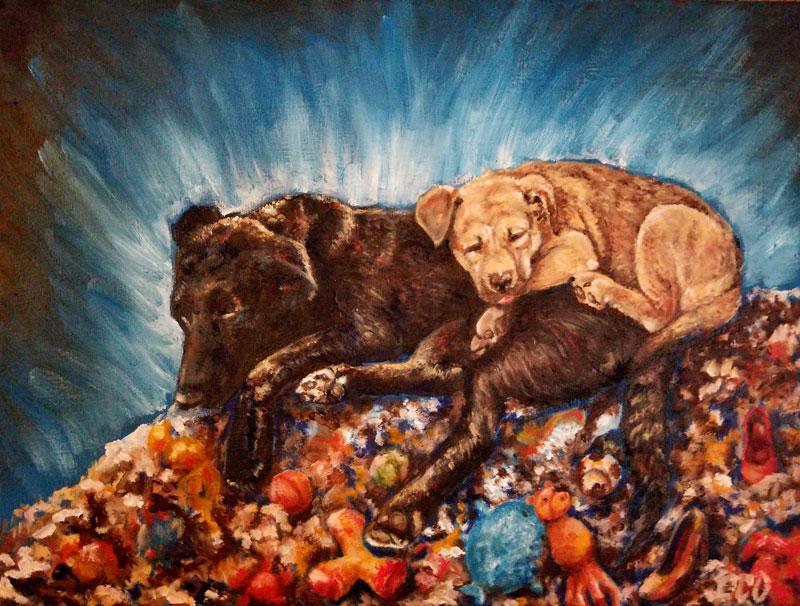 Dusk and Bailey by avaunt