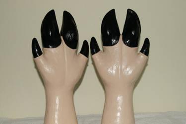 Black latex hoofs by HORSEKING