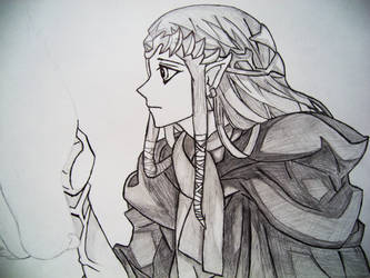 Sketch - Twilight Princess by Darksence1