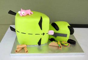 Gir cake by MarcelineVampQueen66