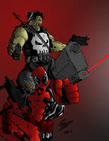 Punisher and Pool by Armyghy