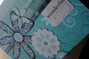 WONDERFUL YOU Handmade Card by hexmedia