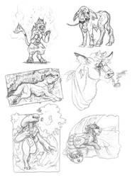 Sketch Art trades by GenevieveMeuniere