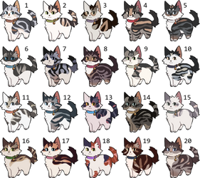 [CLOSED] OTA Cat Adoptables by nargled