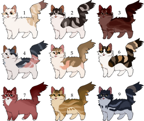 [OPEN] Cat Adoptables by nargled