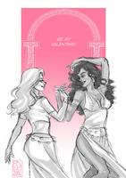 Valentine: Zora and Maelerys by FidisART