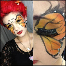 Monarch Butterfly Makeup Preview by LoneSurvivor01