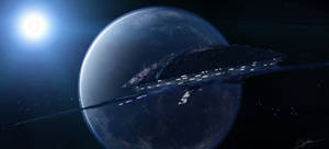 space station scene by psiipilehto