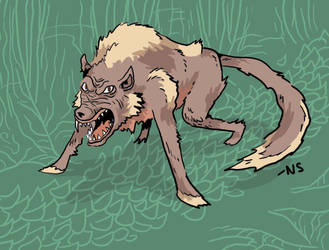Mangy Wolf by SquidMantis