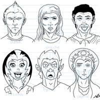 Head Drawings by SquidMantis