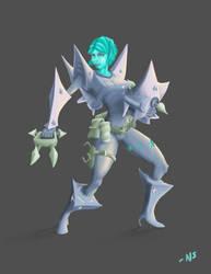 StarGirl Character Design by SquidMantis
