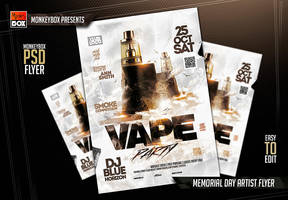 Vape Party Flyer by AndyDreamm
