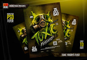 Toxic Fridays Flyer by AndyDreamm