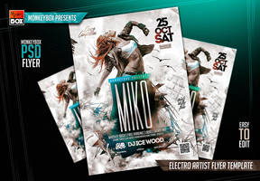 Electro Artist Flyer Template by AndyDreamm