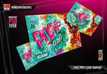 Pool Party Flyer Template by AndyDreamm