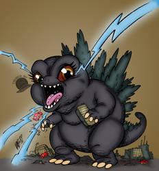Mini Godzilla by Blackmoonrose13