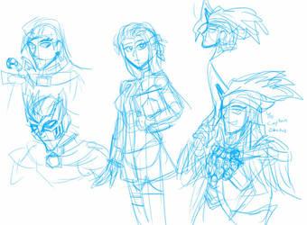 Vrak, Alice and Vekar Sketch by Chen-Chan