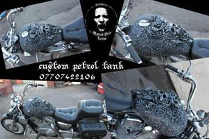 custom motorcycle chopper hog bike motorbike skull by JanuszDolinski