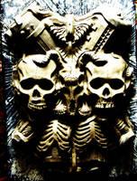 gore creepy horror guro scary eerie death skulls by JanuszDolinski