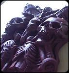 goth gothic victorian Grunge gloomy noir skulls by JanuszDolinski