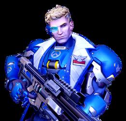 [Overwatch] Strike Commander Morrison (Render) by PopokuPinguPop90