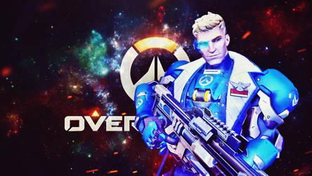 [Overwatch] Strike Commander Morrison (Wallpaper) by PopokuPinguPop90