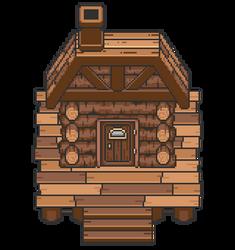 Cabin Exterior by artsybarrels