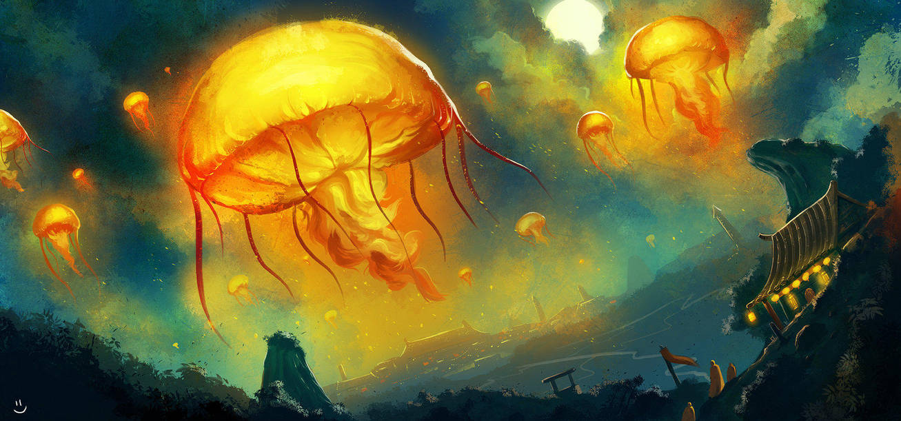 Lanterns in the Sky by desmondWOOT