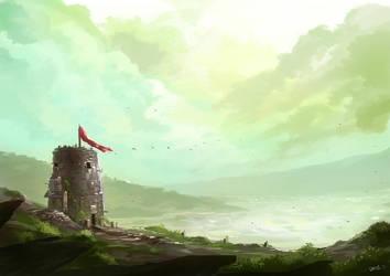 Laketower by desmondWOOT