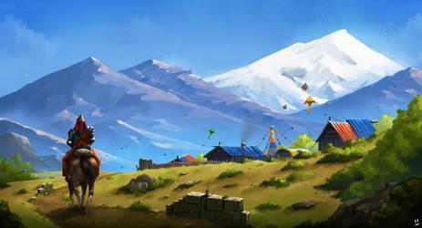 Village of Kites by desmondWOOT