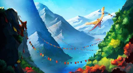Dragon Peaks by desmondWOOT