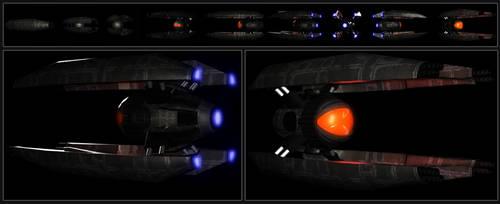 Redeye 3D folding ship design by TRAVARTS