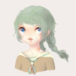 Schoolgirl by nakinagi