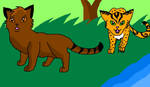 Contest Entry: Leopardnose and Pineheart by PercyJackson7