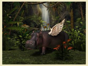 Hippo Heaven by Qutey