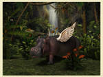 Hippo Heaven by Qutey