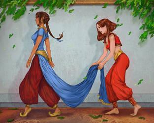 Sabetha and Em by juuhanna