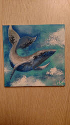 Whale in the Clouds by MaybeBirdy