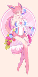 Blue is the New pink [Sylveon Gijinka] by Potave-King