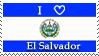 I Heart El Salvador Stamp by Kamui-Dragon