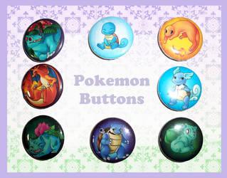 Pokeman Buttonz by JelliedFox