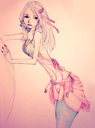 Watermelon Girl by MarmaladeNightmare