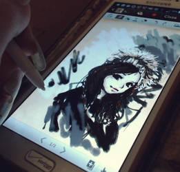 s-pen smartphone art :P by MarmaladeNightmare